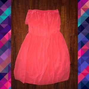 Strapless spring/ summer dress.
